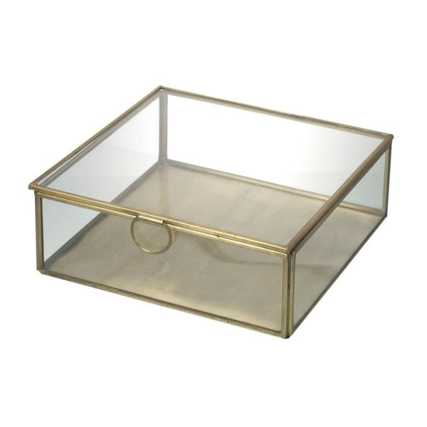 Sklenený box Gold Glass