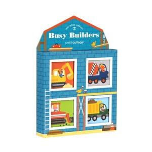 Sada 4 obrázkových knižiek Petit collage Busy Builders