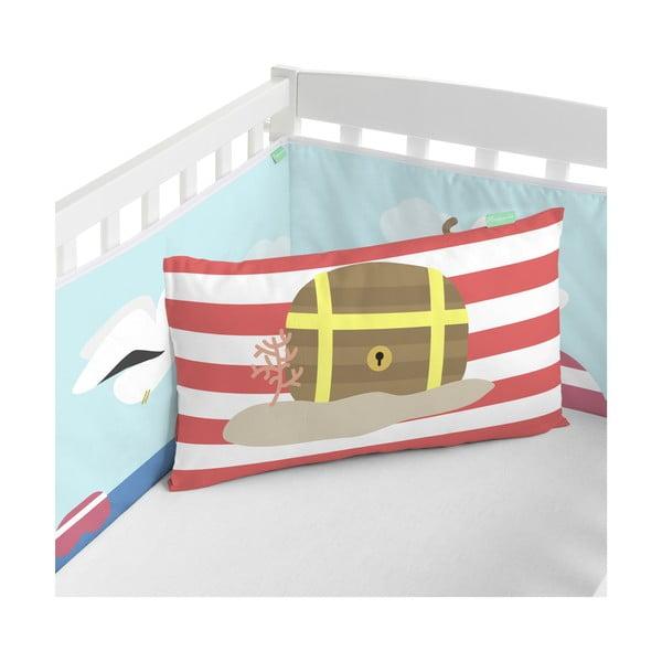 Textilný mantinel do postieľky Happynois Yellow Submarine, 210x40cm