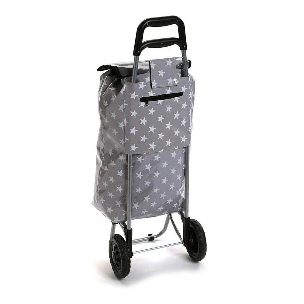 Sivá nákupná taška na kolieskach Versa Estrella