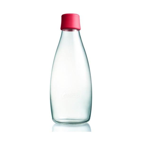 Malinovoružová sklenená fľaša ReTap s doživotnou zárukou, 800ml