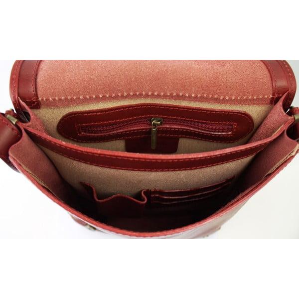 Kožená unisex taška Inala Rosso