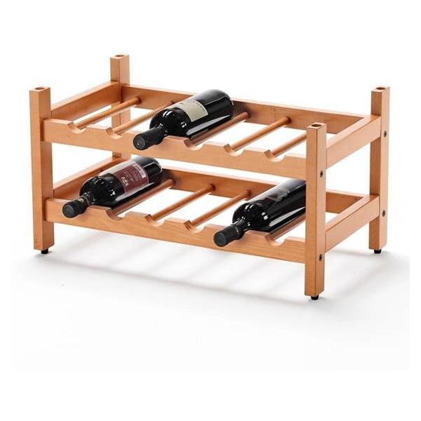 Polica na víno z bukového dreva Arredamenti Italia Cilegio, výška 29 cm