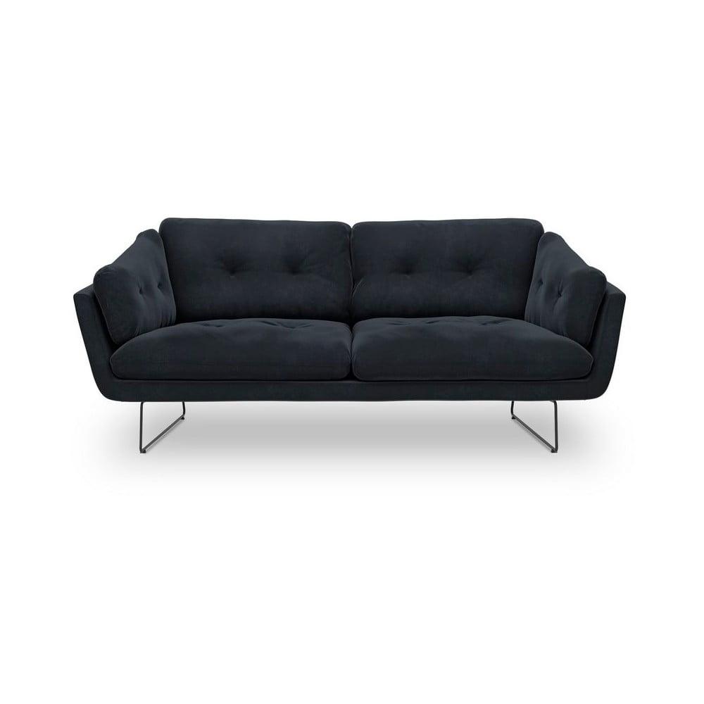 Tmavomodrá trojmiestna pohovka so zamatovým poťahom Windsor & Co Sofas Gravity