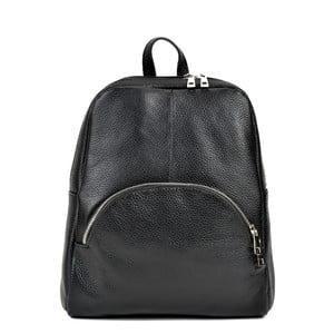 Čierny kožený batoh Renata Corsi Orsola