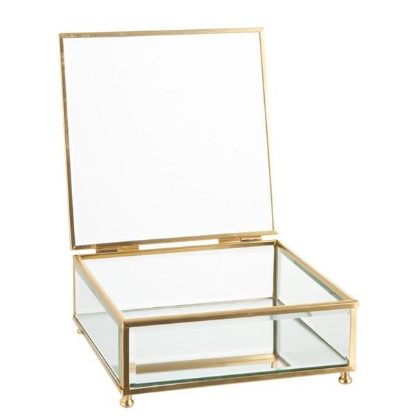 Sklenená šperkovnica J-Line Gold, 15x6cm
