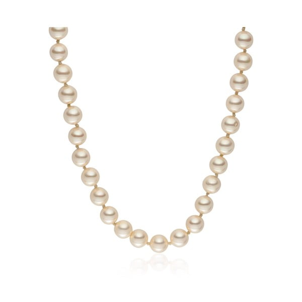 Svetložltý perlový náhrdelník Pearls Of London Mystic, dĺžka 45 cm