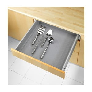 Sivá protišmyková podložka do zásuvky Wenko Anti Slip Mat 500, 150×50 cm