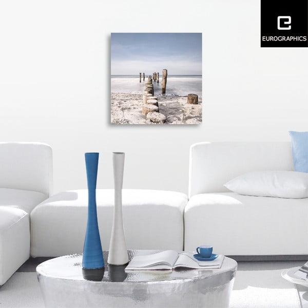 Sklenený obraz Soft Sea Spray, 50x50 cm