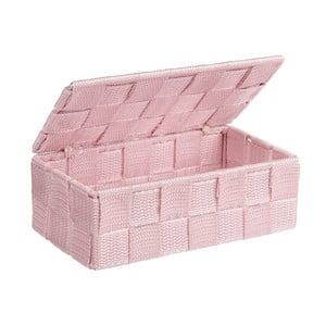 Ružový kúpeľňový organizér Wenko Adria Mini With Lid