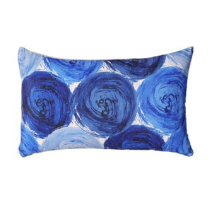 Modrý vankúš Ixia Roses, 50x30cm