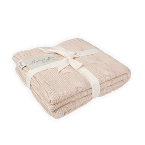 Ružovobéžová bavlnená deka Couture Gold, 170×130cm