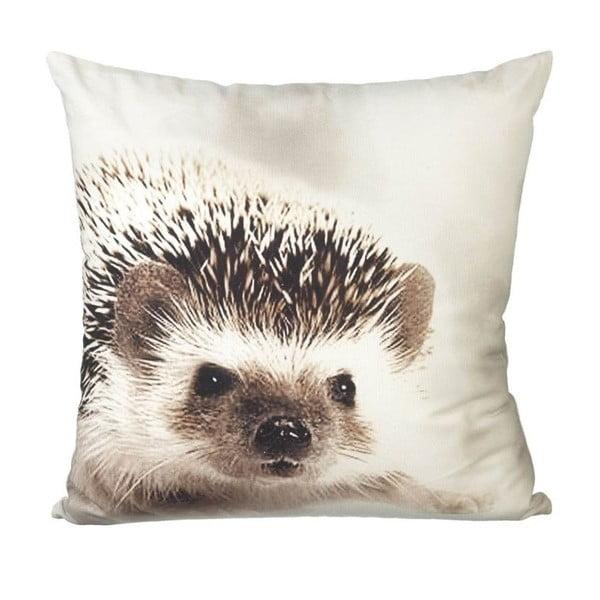 Vankúš s výplňou Hedgehog White/Brown, 45x45 cm