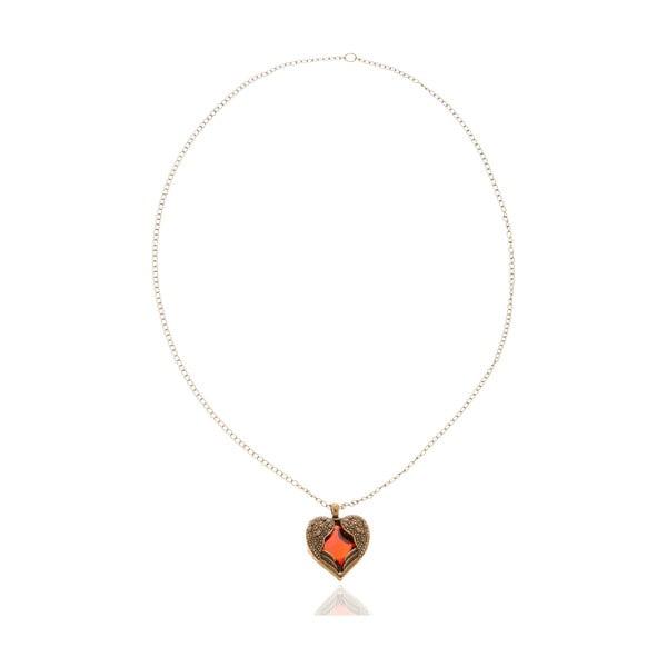 Dámsky náhrdelník v červenej farbe NOMA Abbie