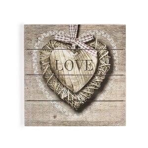 Drevený obraz Graham&Brown Love,50x50cm