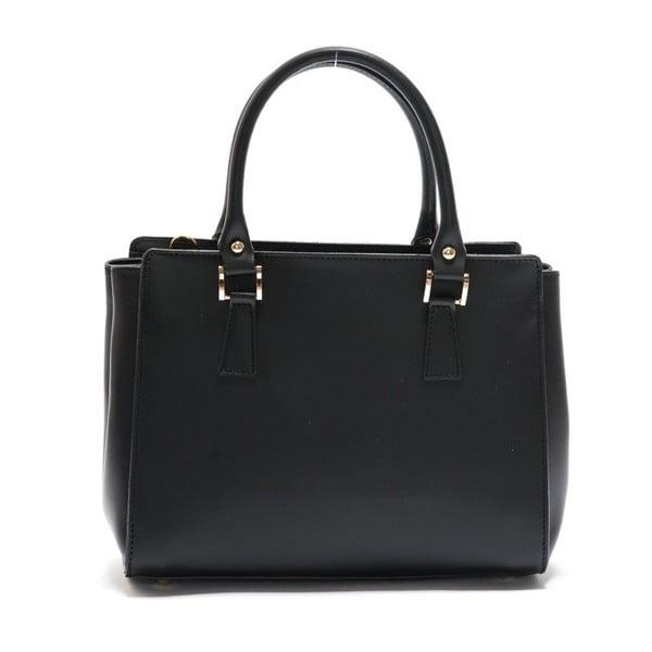 Čierna kožená kabelka Mangotti Rudbekia