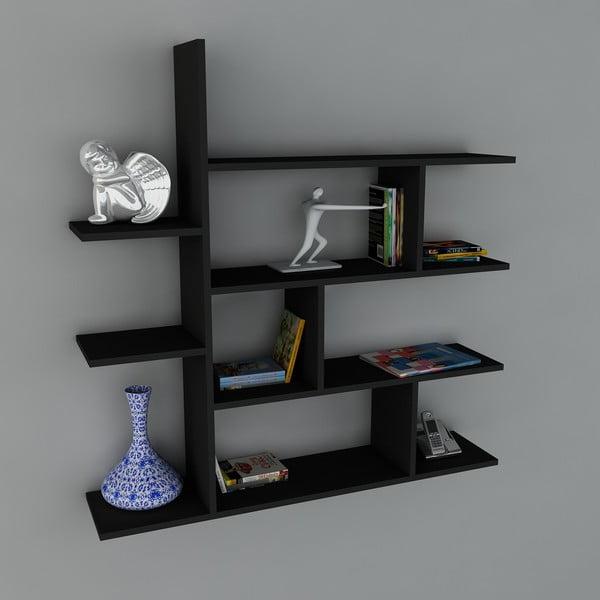 Polica Motif Book Black, 22x120x121,8 cm