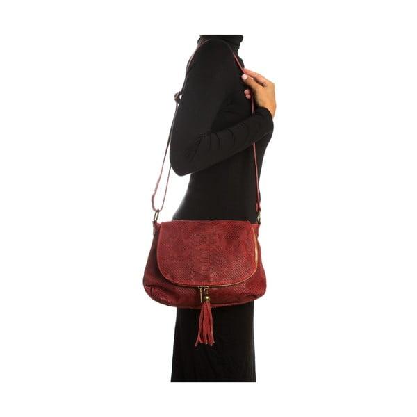 Červená kožená kabelka Sofia Cardoni Rosetta