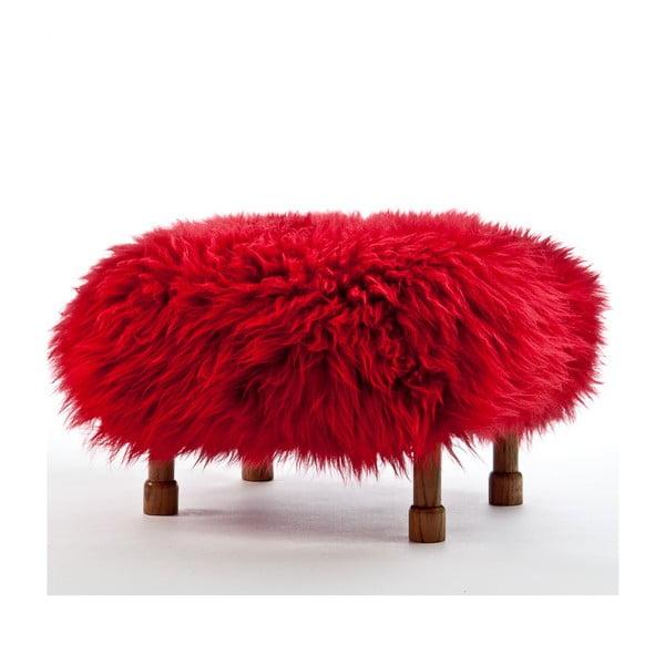 Stolička z ovčej kože Delyth Dragon Red