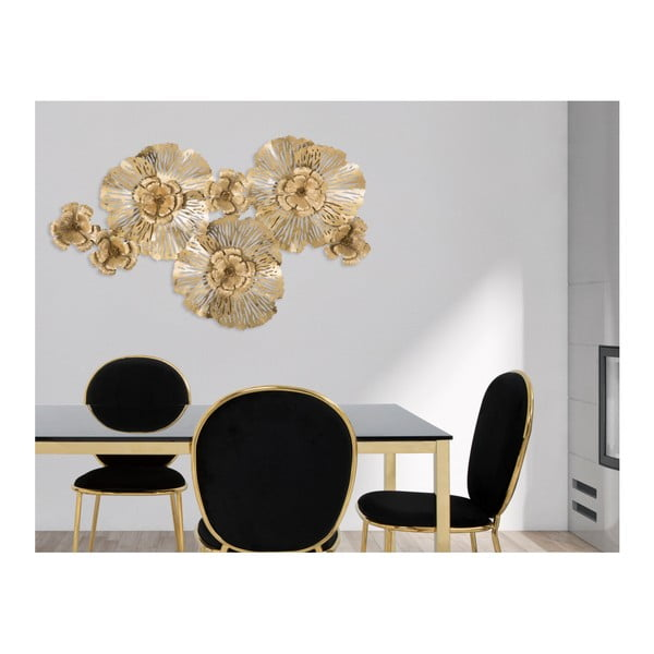 Železná nástenná dekorácia v zlatej farbe Mauro Ferretti Luxury, šírka 118,5 cm