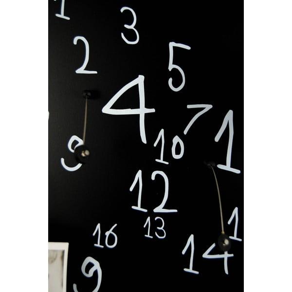 Magnetický kalendár dESIGNoBJECT.it Krok Black, 50 x 50 cm