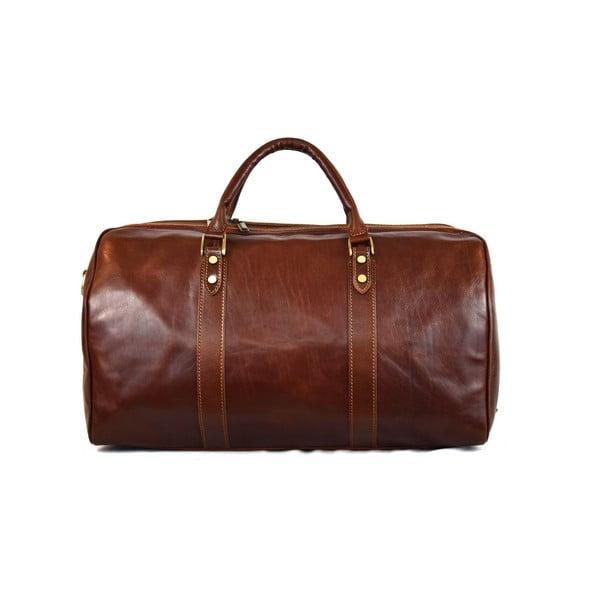 Kožená taška Santo Croce VL979 Brown