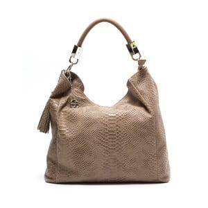 Kožená kabelka Foto, hnedá