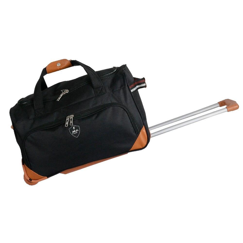Čierna cestovná taška na kolieskách GENTLEMAN FARMER Sporty, 88 l