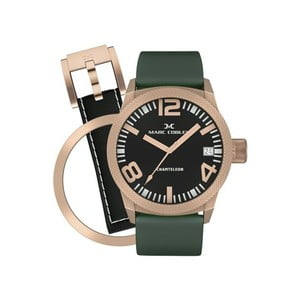Dámske hodinky Marc Coblen s remienkom a krúžkom na ciferník naviac P80