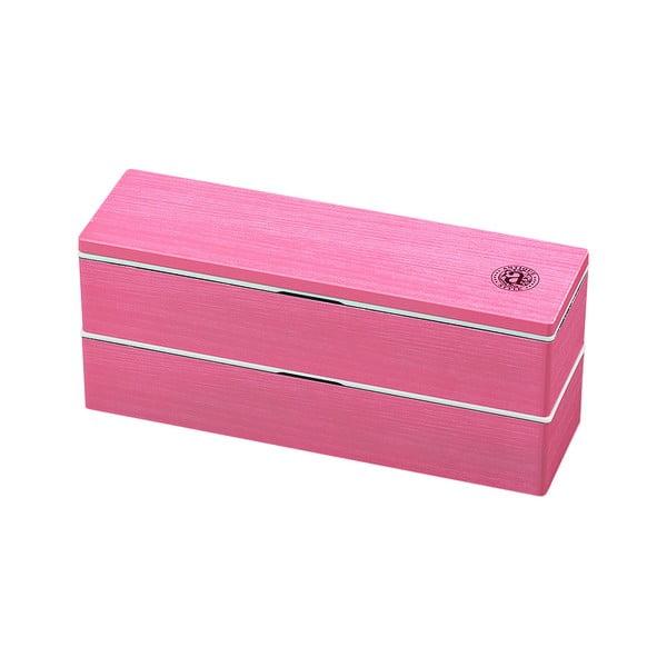Ružový desiatový box Joli Bento Antique, 840ml