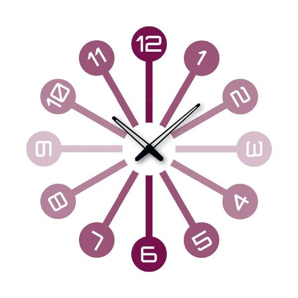 Samolepiace hodiny Fialové čísla