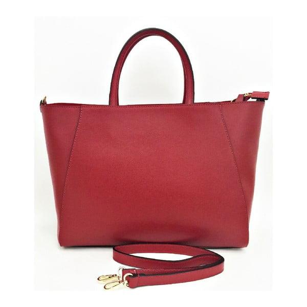Kožená kabelka Gilda Red