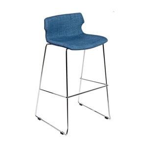 Barová stolička D2 Techno, čalúnená, modrá