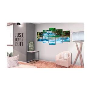 Obraz na plátne Bimago Blue Waterfall 200 x 100 cm