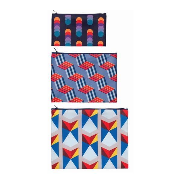 Sada 3 univerzálnych taštičiek Geometric