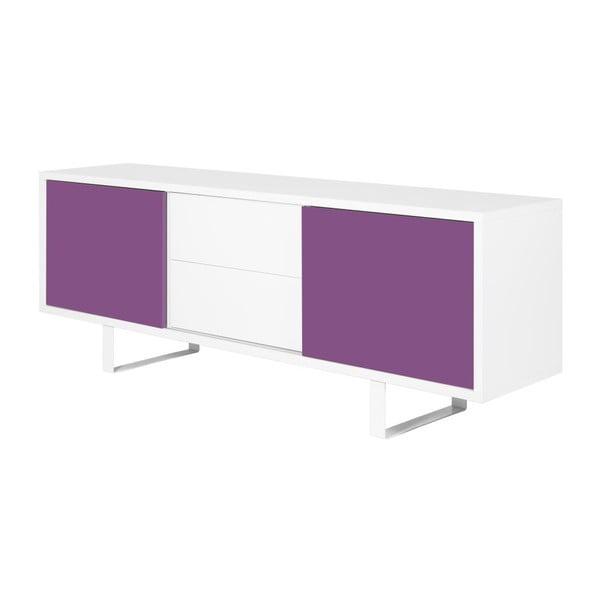 Komoda Slide W, fialová