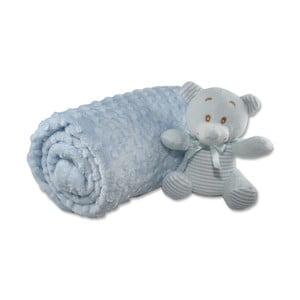 Bavlnená detská deka Aksu Mavi, 110×90 cm