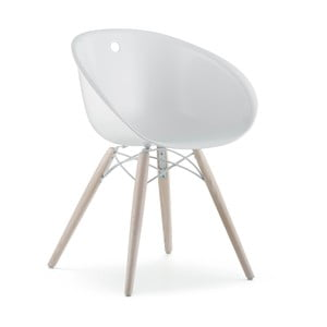 Biela stolička Pedrali Gliss Wood