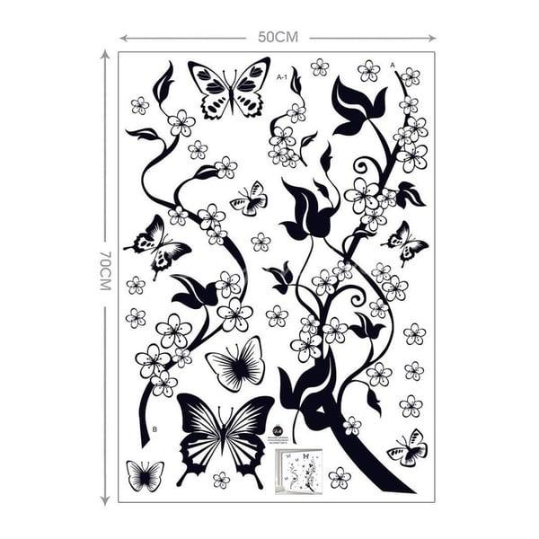 Dekoratívna samolepka Popínavé kvety, 100x86 cm