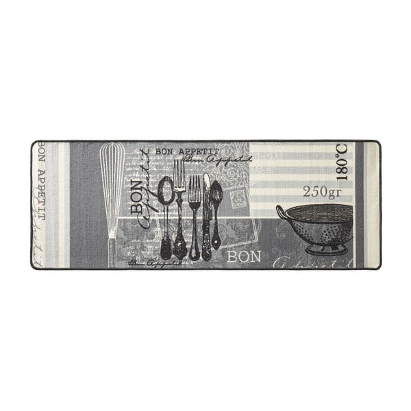 Sivý kuchynský koberec Hanse Home Appetit, 67x180cm