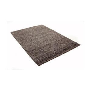 Hnedý koberec z vlny a bavlny Cotex, 140 × 200 cm