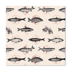 Plagát Fishes In Geometrics od Florenta Bodart, 30x30 cm