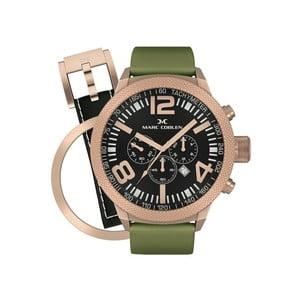 Pánske hodinky Marc Coblen s remienkom a krúžkom na ciferník naviac P39