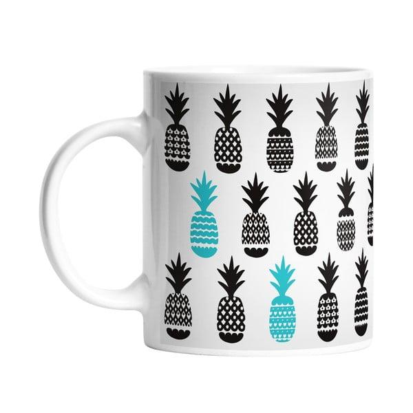 Keramický hrnček Black Pineapples, 330 ml