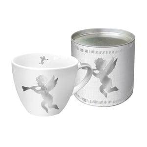 Porcelánový hrnček s vianočným motívom v darčekovom balení PPD Angel Fashion Platinum, 450 ml