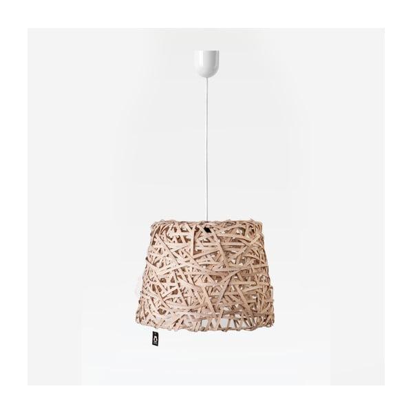 Stropné svetlo Roll, 35x29 cm, hnedé