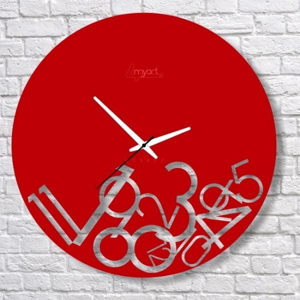 Nástěnné hodiny Red Confusion