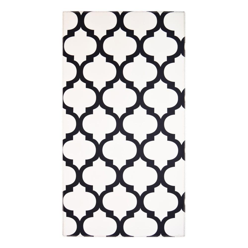 Čiernobiely koberec Vitaus Jessica, 80 x 150 cm