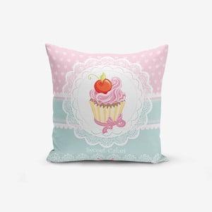 Obliečka na vankúš Minimalist Cushion Covers Cupcakes Pink Blue, 45×45 cm