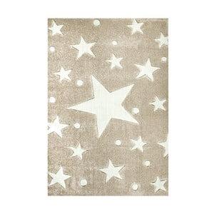 Béžový detský koberec Happy Rugs Stars, 160×230cm